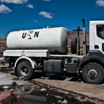 UN tanker truck offloading the raw sewage of MINUSTAH Peacekeepers at Morne a Cabrit sewage treatment plant in January 2013. Photo: Isabeau Doucet